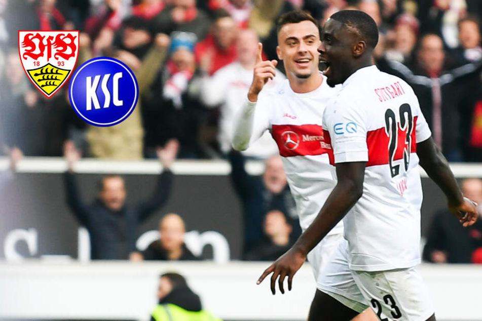 Derby-Sieger! VfB Stuttgart lässt KSC keine Chance, Rot nach Horror-Grätsche