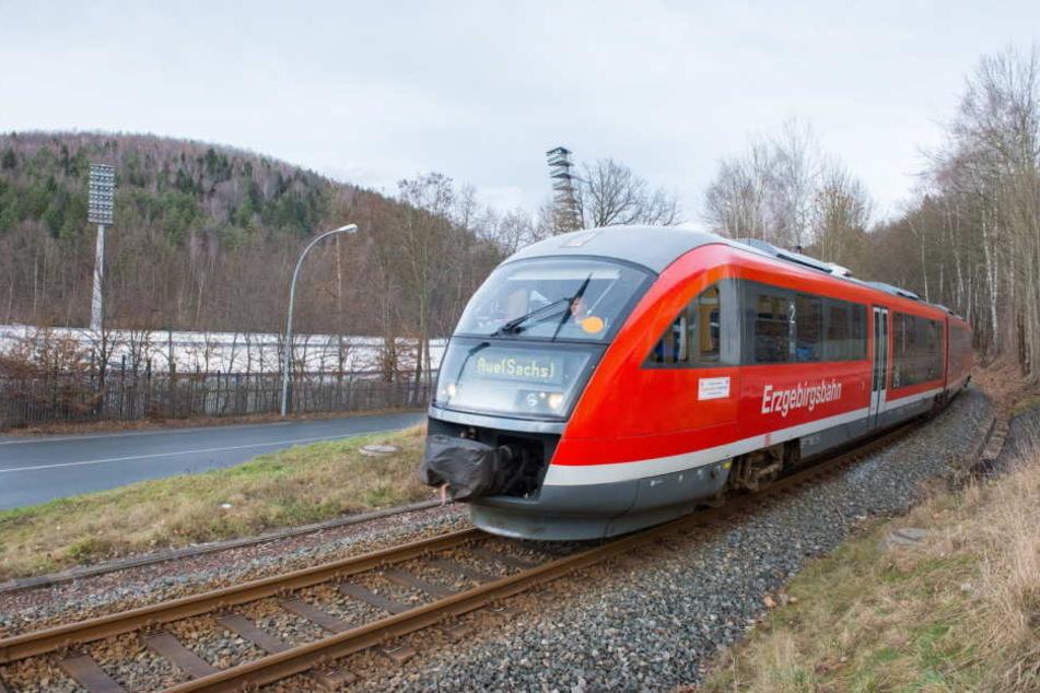 Auf der Strecke von Chemnitz und Aue stehen Bauarbeiten an, es wird Schienenersatzverkehr geben. (Archivbild)
