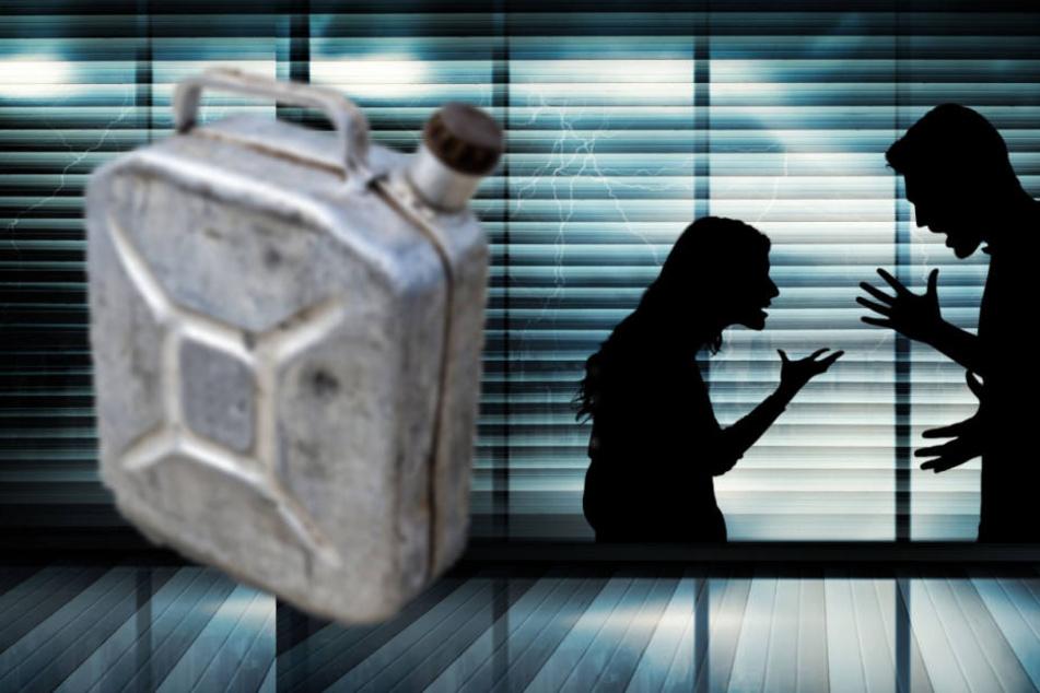 Im Asia-Laden! Mann schüttet Benzin über Frau und will sie anzünden