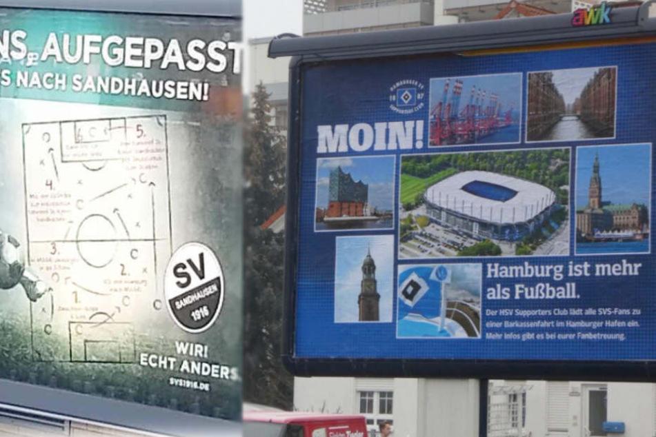 HSV revanchiert sich für freche Plakat-Aktion aus Sandhausen