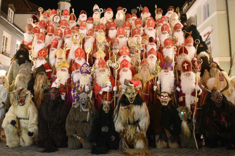 Ein Gruppenbild durfte natürlich auch beim Nikolaus-Treffen in Murnau nicht fehlen.