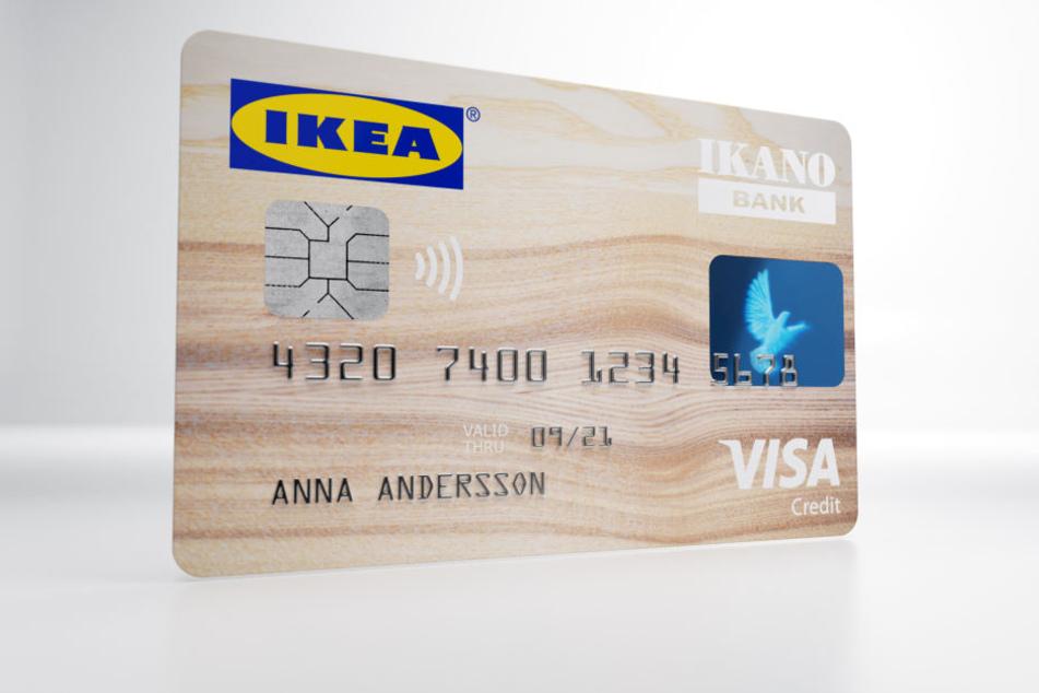 So sieht die Kreditkarte von IKEA Deutschland aus.