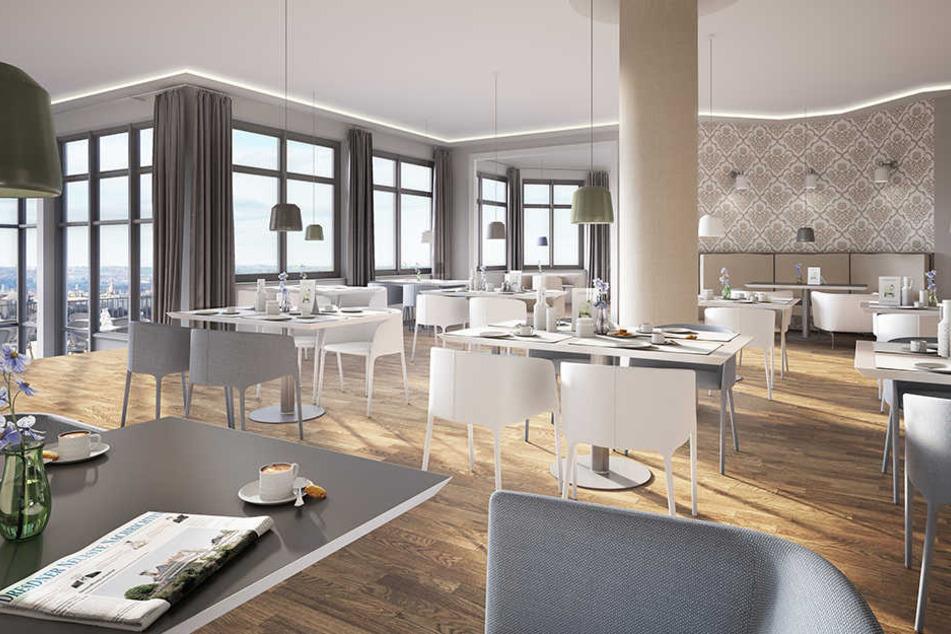 """Mit Dresden-Panorama: Nach drei Jahren eröffnet das neue Restaurant auf dem """"Balkon von Dresden""""."""