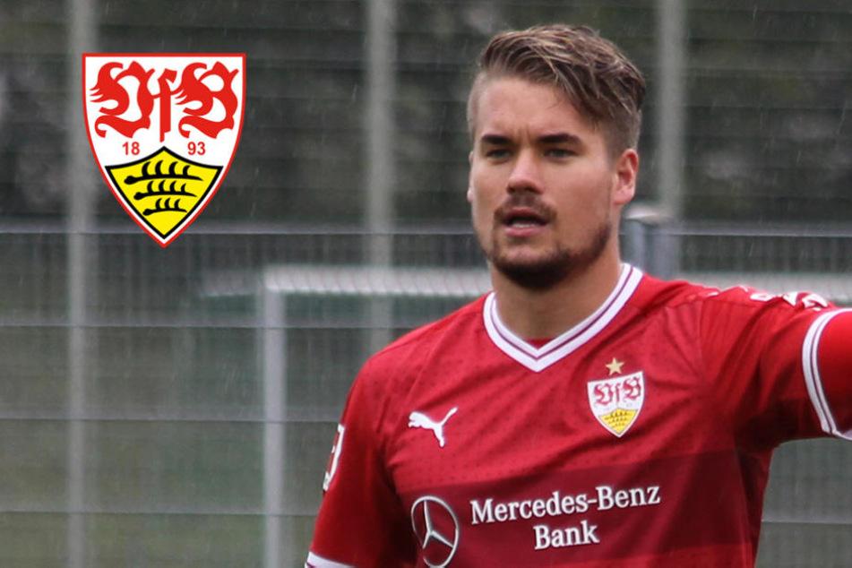 """Seit Ende August in Stuttgart, aber fühlt sich schon """"richtig wohl"""": Keeper Alexander Meyer."""