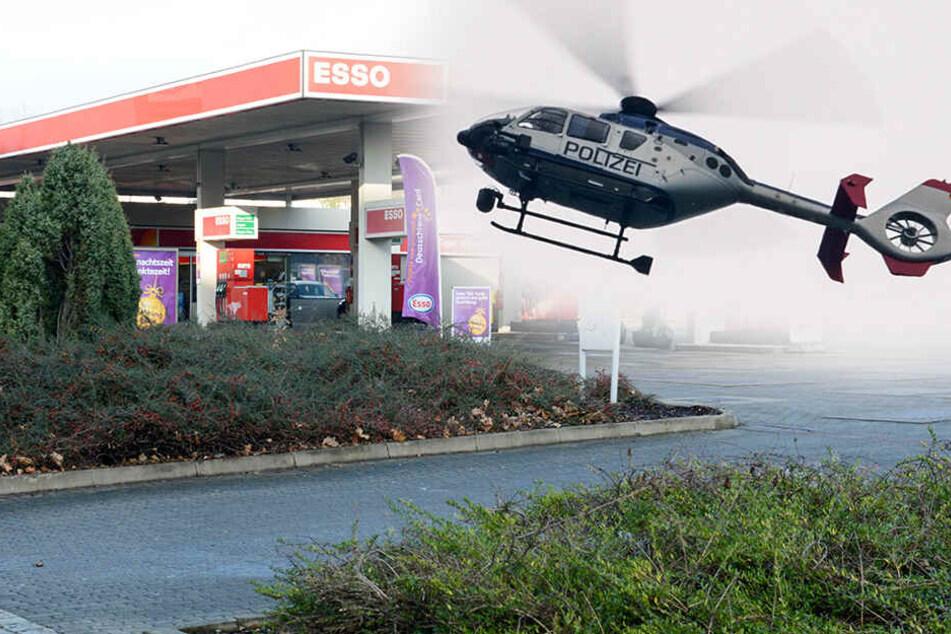Helikopter über Dresden! Polizei jagt Masken-Frau nach Überfall