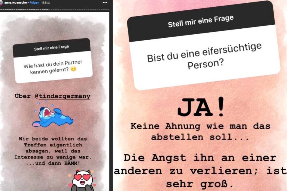 In ihrer Instagram-Story beantwortet Anne die Fragen ihrer Fans.