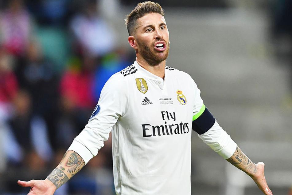 Spielte nach seiner Unsportlichkeit das Unschuldslamm: Sergio Ramos.
