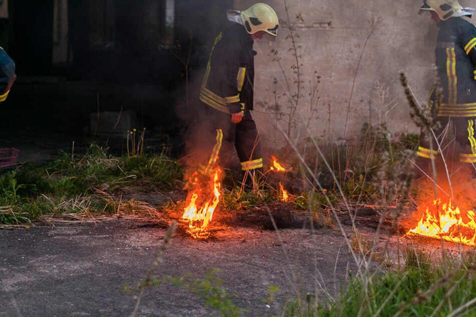 Immer wieder musste die Feuerwehr auf dem alten Eschebach-Gelände Brände löschen.
