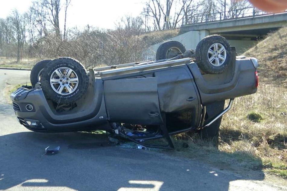 Das Auto lag am Seitenrand, vom Fahrer fehlte jede Spur.