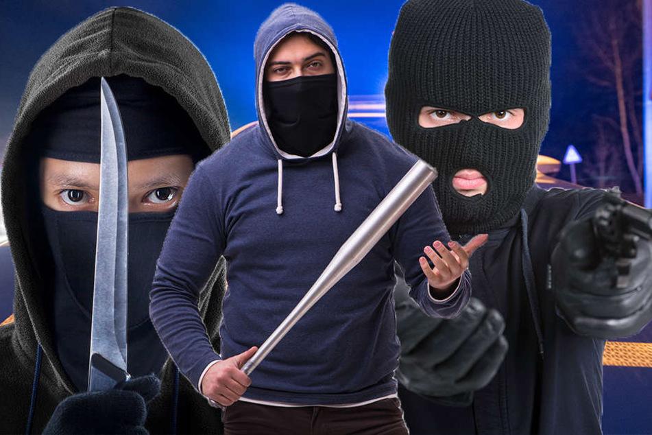 Die drei Täter waren mit Messer, Baseballschläger und einer Pistole bewaffnet. (Symbolbild)