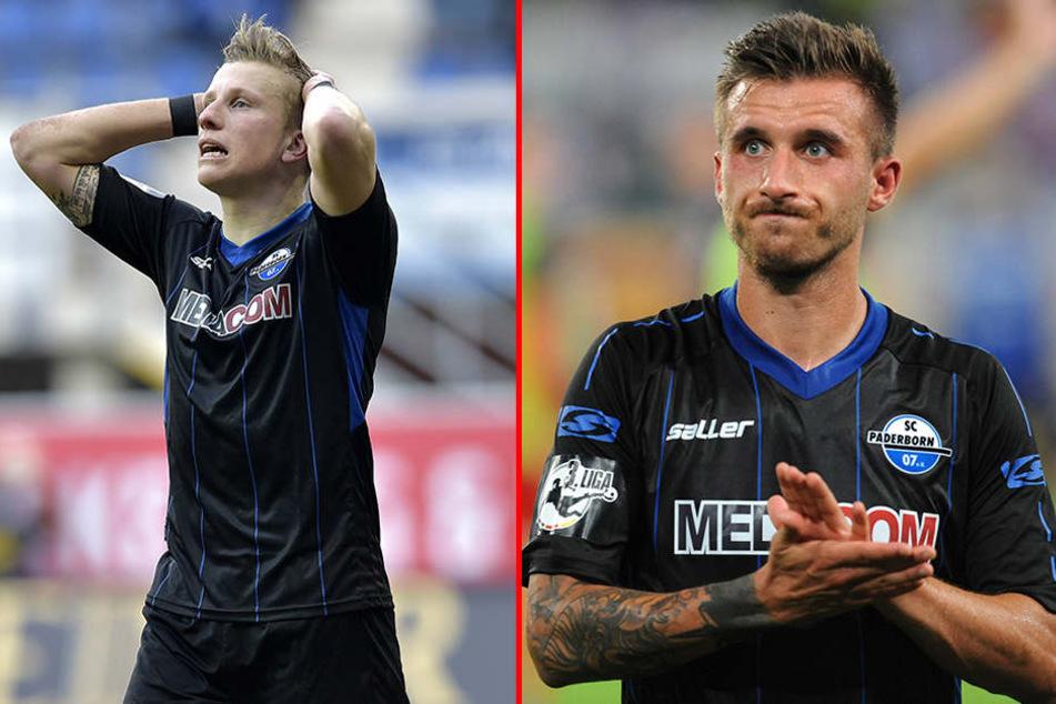Gesperrt: Markus Piossek (li.) und Robin Krauße (re.) dürfen nicht gegen Holstein Kiel ran.