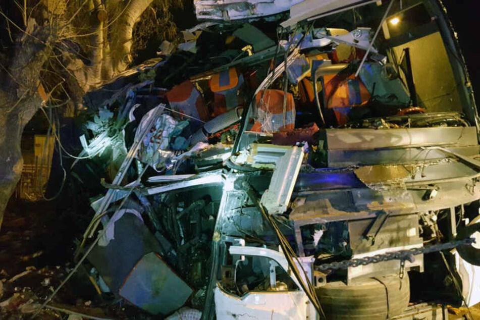 In diesem Bus starben 11 Menschen.