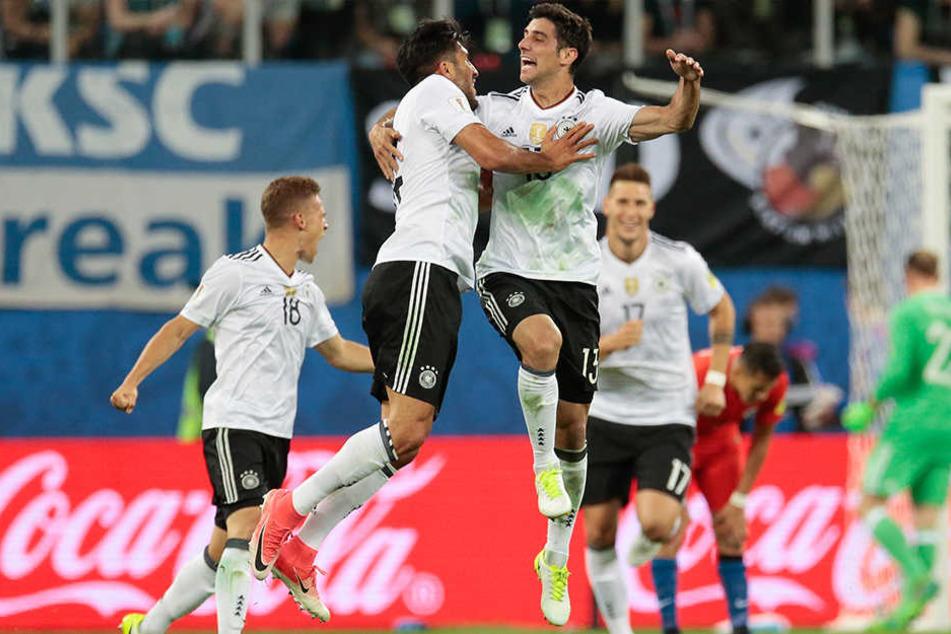 Im Finale gegen Chile am 2. Juli 2017 gewann Deutschland den Confederations Cup.