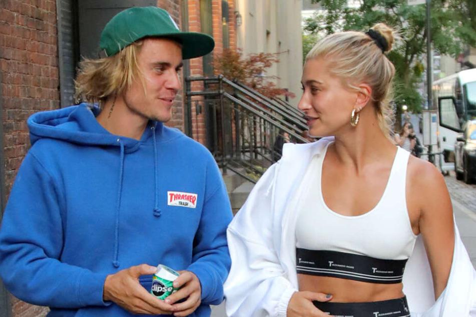 Justin und Frau Hailey zusammen im Jahr 2018.