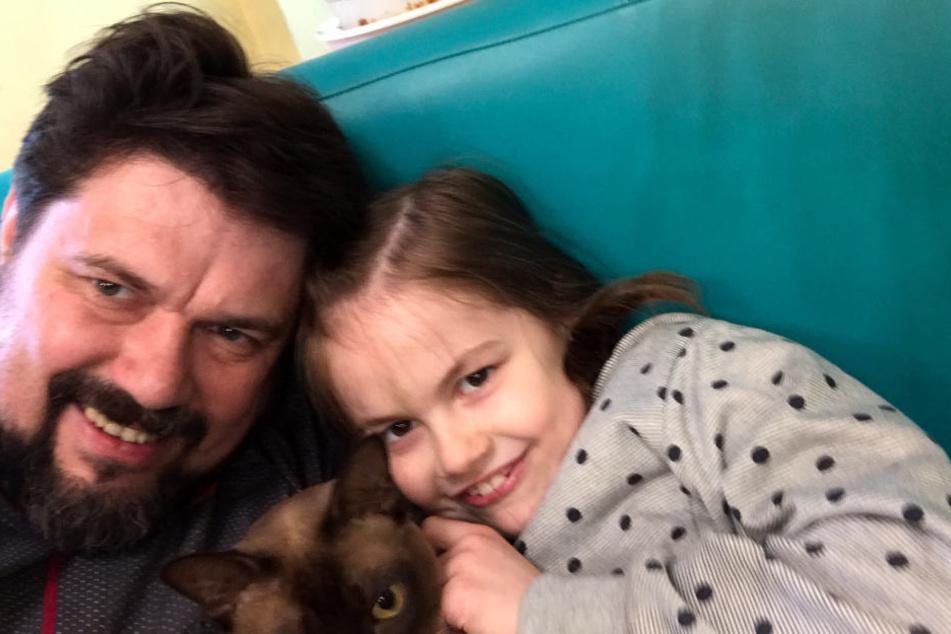 Eines der letzten Bilder von Vater und Tochter.