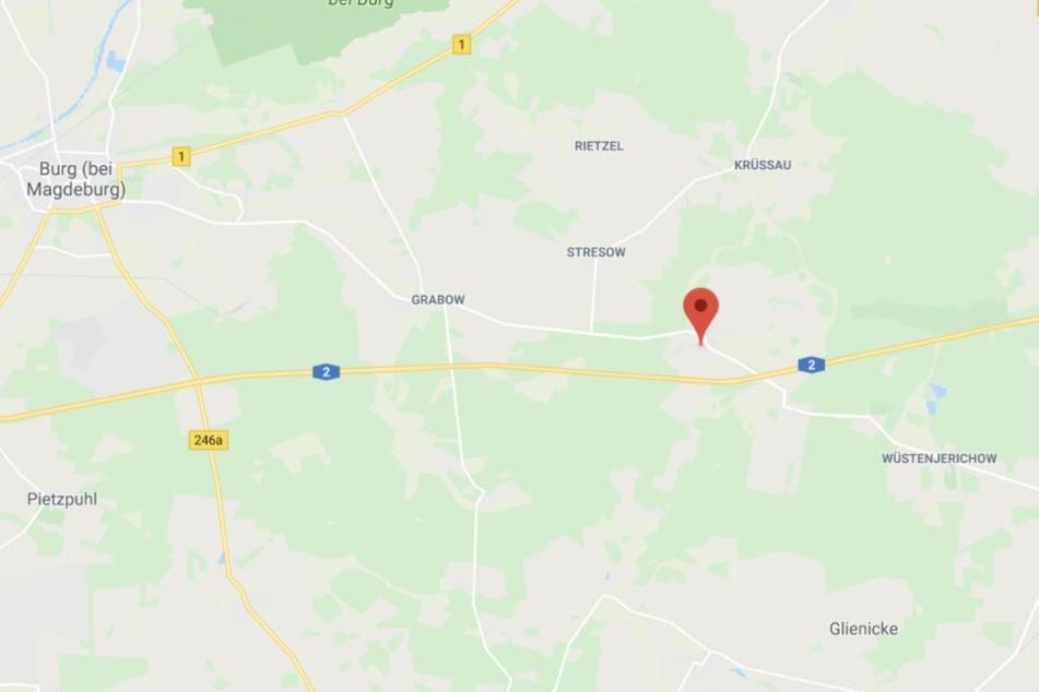 Der Diebstahl ereignete sich auf einem Parkplatz an der A2 kurz vor der brandenburgischen Grenze.