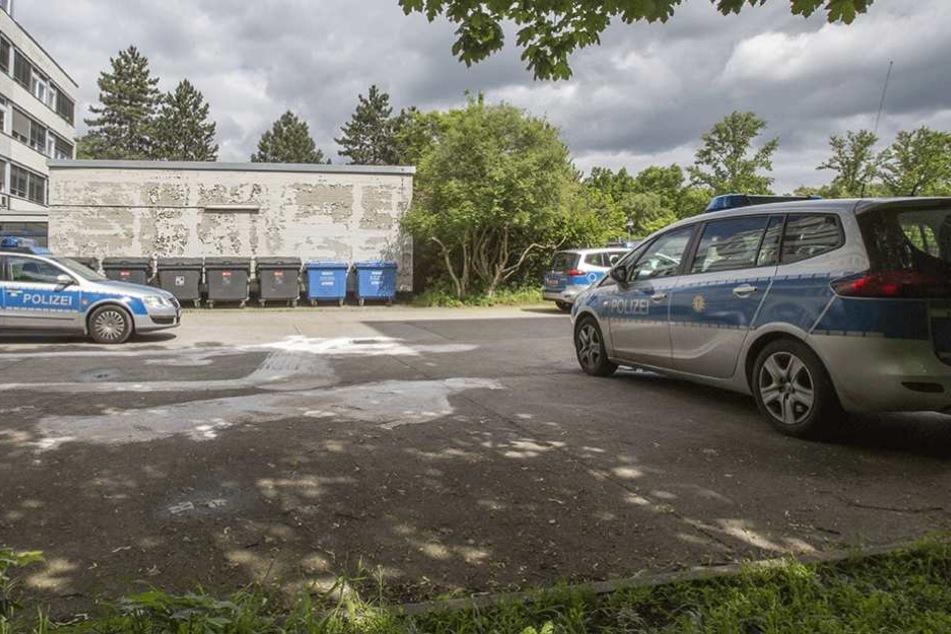 Mehrere Berliner Polizeiautos wurden durch Steinwürfe demoliert (Symbolbild).
