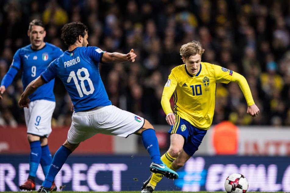 Am Freitag siegten Emil Forsbergs Schweden im WM-Playoff-Hinspiel gegen Italien. Der Flügelflitzer von RB Leipzig stand dabei unter besonderer Beobachtung.