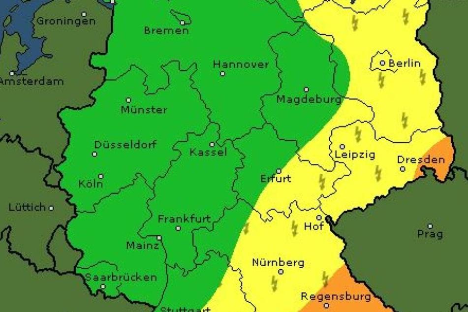 Gewitter drohen in einigen Teilen des Landes.