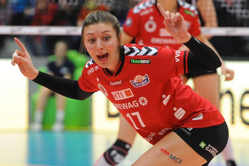 Gina Mancuso zeigte im Angriff eine gute Leistung und war Top-Scorerin der Partie.