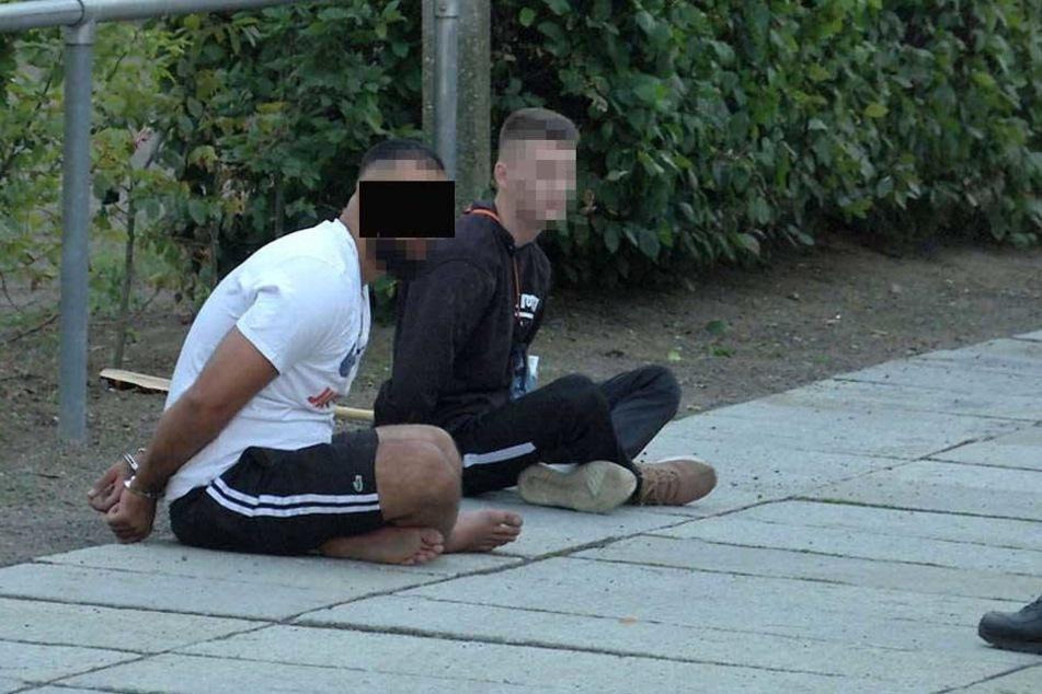 """Auch Ghassan """"Zuna"""" R. (24, li.) wurde festgenommen. Hier eine Aufnahme von einer früheren Verhaftung."""