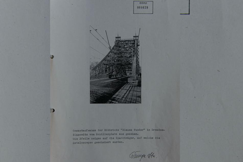 "Mit Pfeilen dokumentierte die Stasi, an welche Stellen die ""Hetzlosungen"" geschmiert worden waren."
