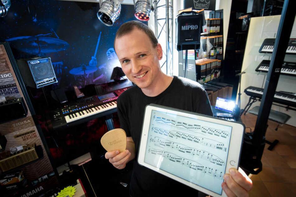 """Seine App will die Musikwelt verändern: Ulrich Halfter (35) erfand """"Scorefab""""."""