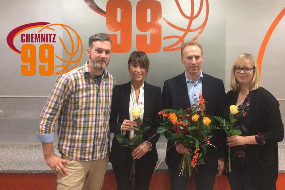 V.l. Sven Böttger (Vizepräsident), Dr. Micaela Schönherr (Präsidentin), Martin Schuster (Ex-Präsident), Tina Möckel (Schatzmeisterin)