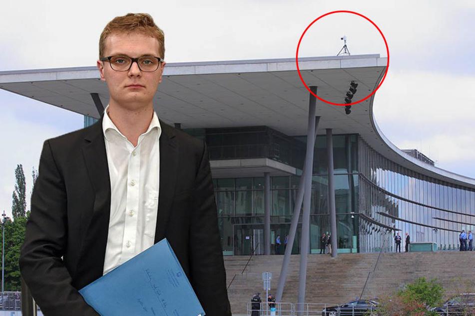 Riesen-Ärger wegen dieser Videokamera vorm Landtag