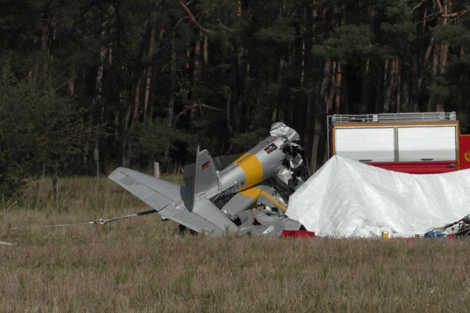 Tödliches Unglück im Havelland: Kleinflugzeug abgestürzt