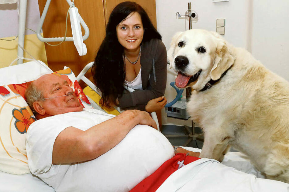 Daniela Trambowsky und Hund Sunny bringen schwerkranke Patienten auf andere, weniger trübe Gedanken.