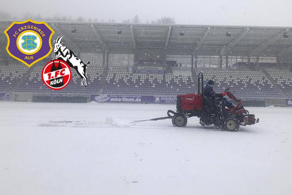 Zu viel Schnee! Aue gegen Köln abgesagt