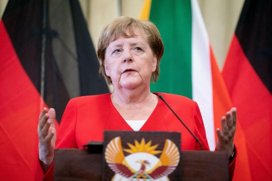 Angela Merkel ist derzeit zu Besuch in Pretoria in Südafrika.