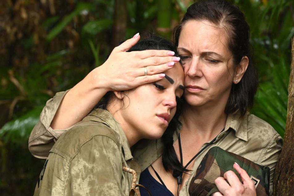Elena Miras und Danni Büchner leiden im Dschungel.