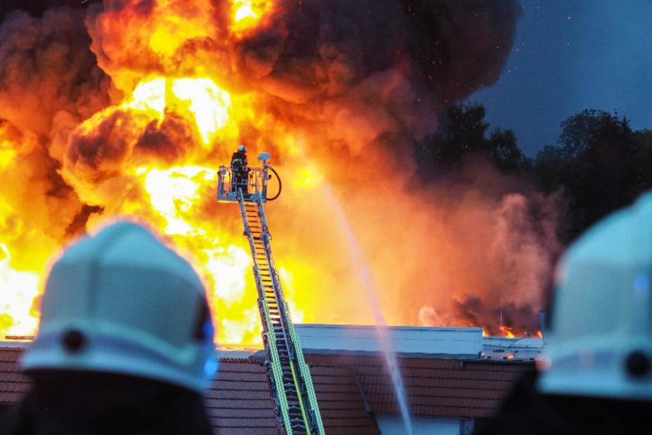 Der Brand loderte meterhoch in die Höhe.