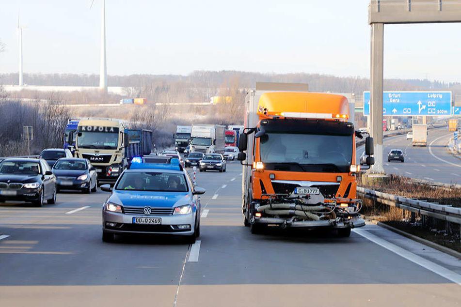 Es gab Rückstau bis auf die A72 am Kreuz Chemnitz.