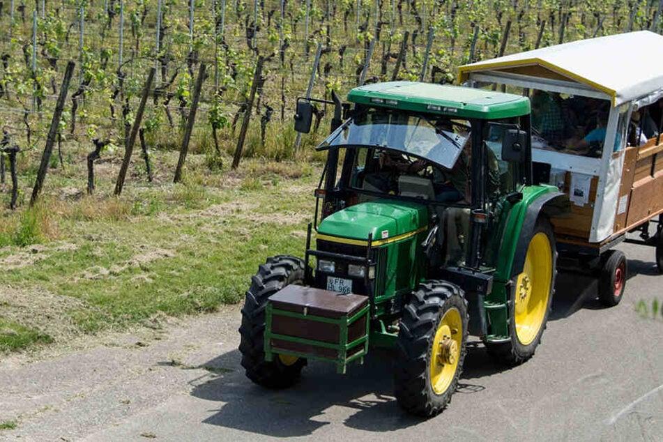 Traktor kippt bei Ausflug um: Acht Menschen werden verletzt