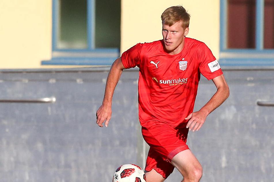 Gerrit Wegkamp erzielte das 1:0 für Zwickau. Sein Tor reichte leider nicht zum Sieg. (Archivbild)