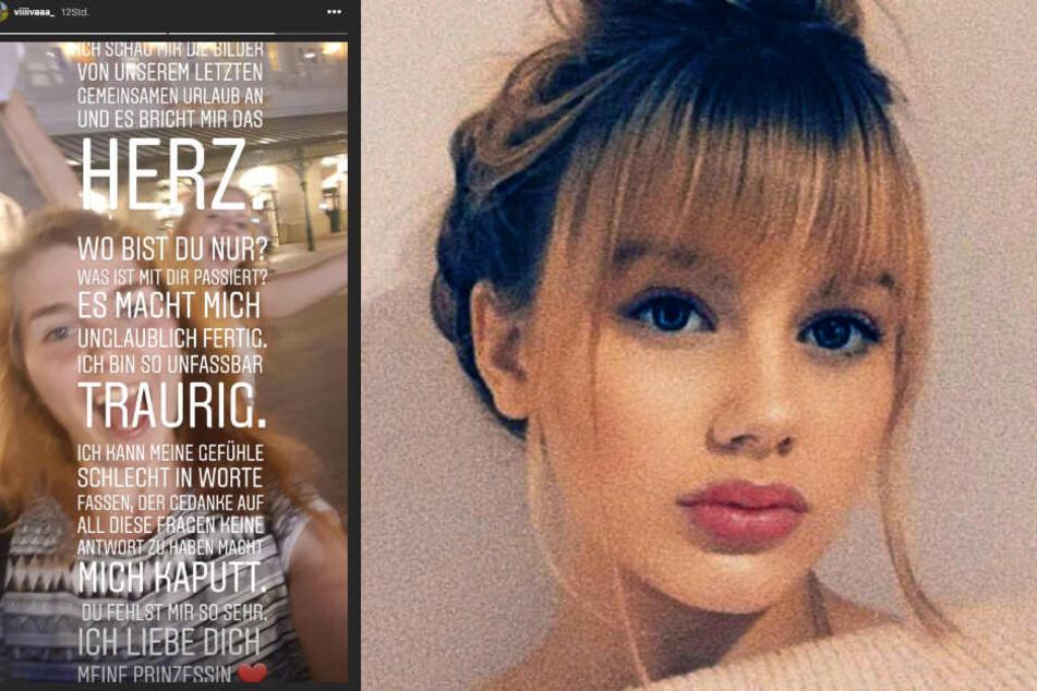 Auf Instagram richtet sich Vivien Reusch an ihre vermisste Schwester Rebecca (15).