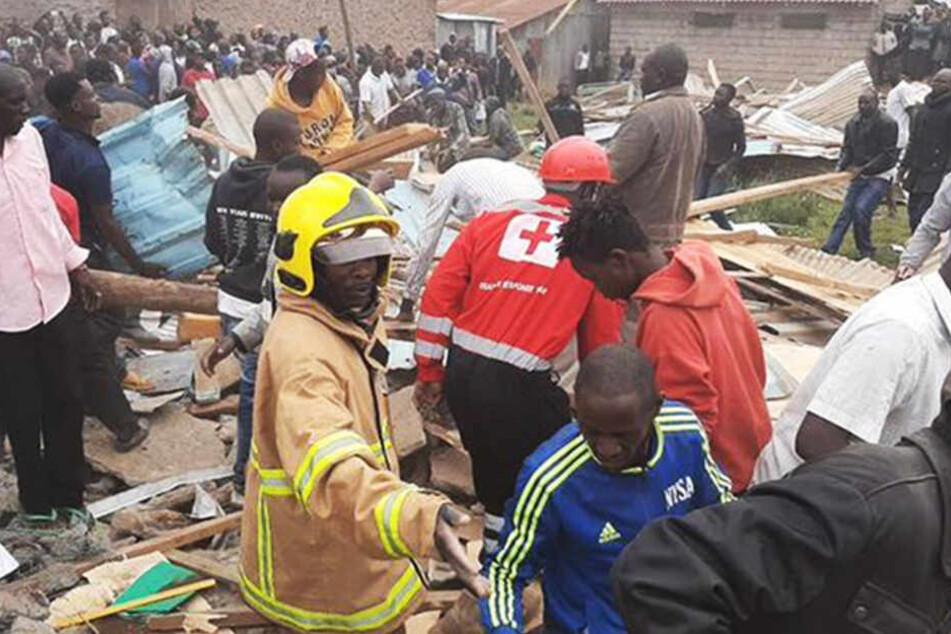 Die Schule gleicht einem Trümmerfeld.