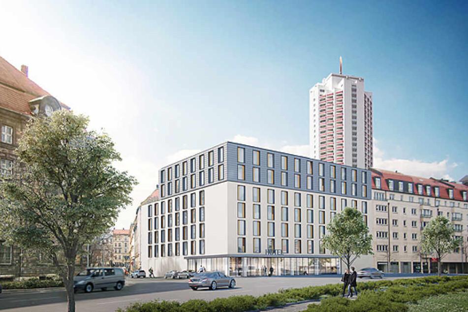 """In unmittelbarer Nähe zum Leipziger Hauptbahnhof wird ein """"Holiday Inn Express""""-Hotel entstehen."""