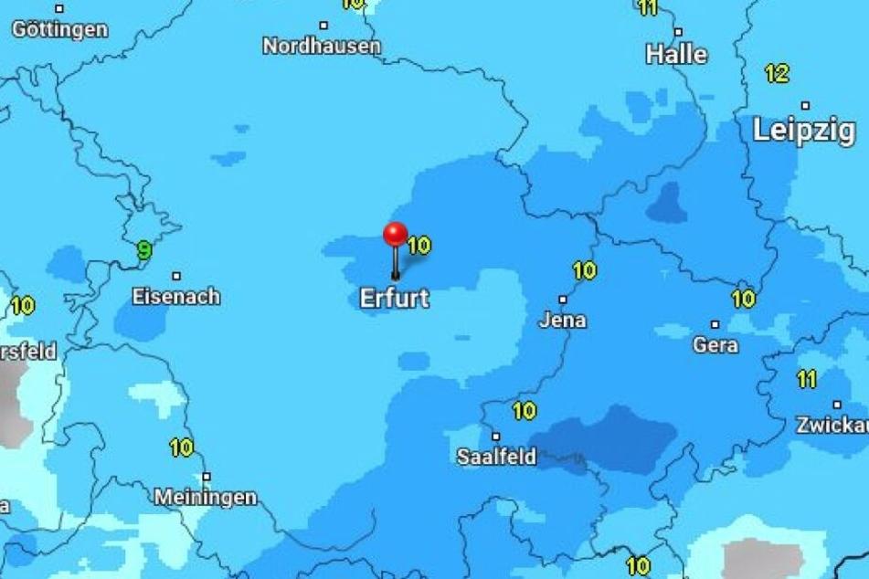 Egal wo man am Wochenende in Thüringen unterwegs ist, dem Regen wird man nicht entfliehen können.