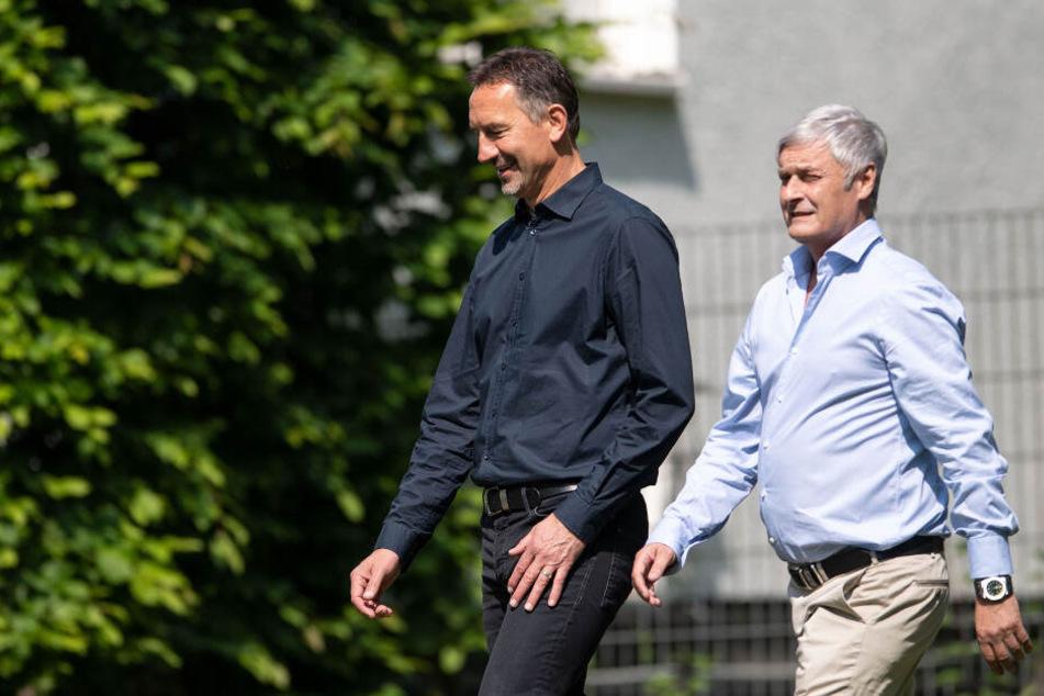 Ersatz gesucht: Trainer Achim Beierlorzer (51) und Sportdirektor Armin Veh (58) mussten den 1. FC Köln zuletzt verlassen.