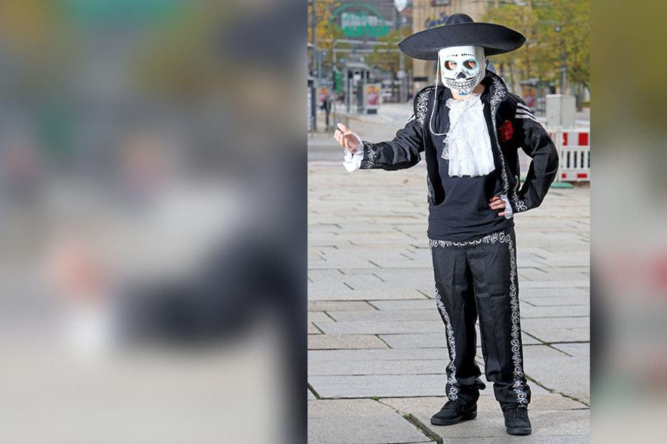 """Kostüme, angelehnt an den mexikanischen Brauch """"Tag des Todes"""", liegen im Trend."""