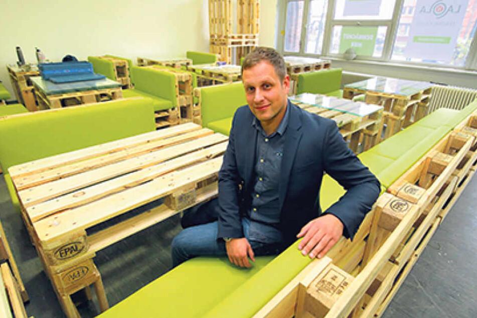 Oliver Lorenz (31) ist der neue Inhaber des Lieferdiensts La Ola. In Dresden eröffnet er am 19. Februar eine Kantine.