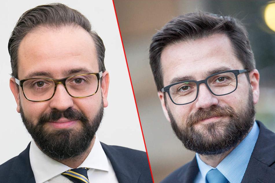 Die Justiz-Zwillinge? Die Thomas Kutschaty (r., 48) und Sebastian Gemkow  (38) sehen sich zum Verwechseln ähnlich.