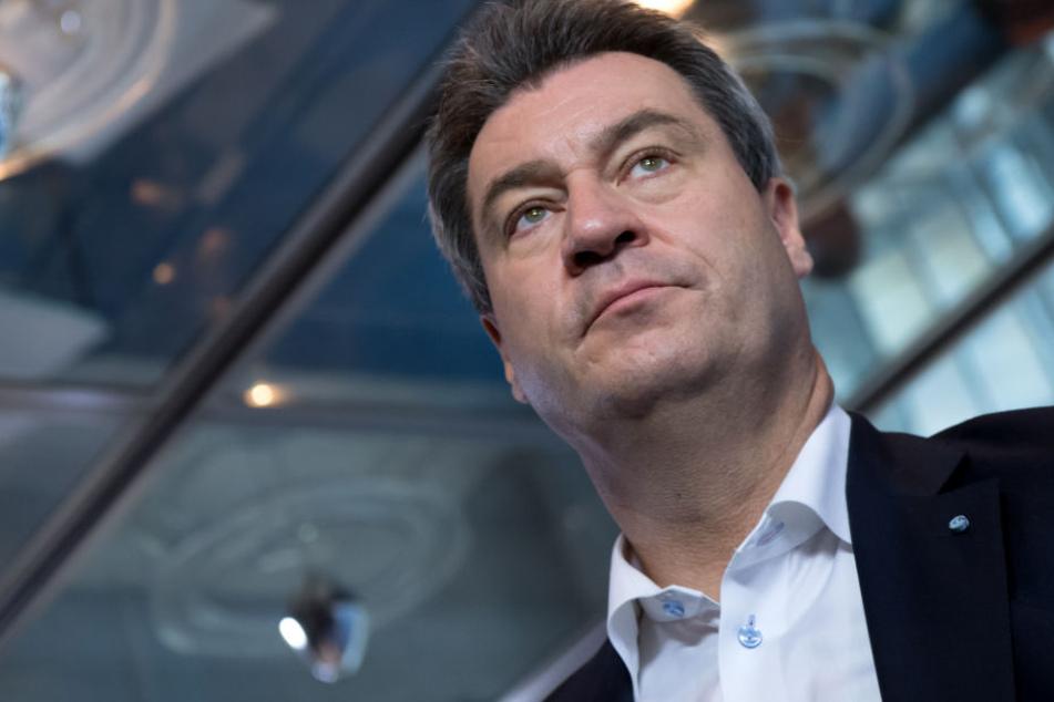 Markus Söder und der CSU droht bei Landtagswahl in Bayern ein Debakel. (Archivbild)