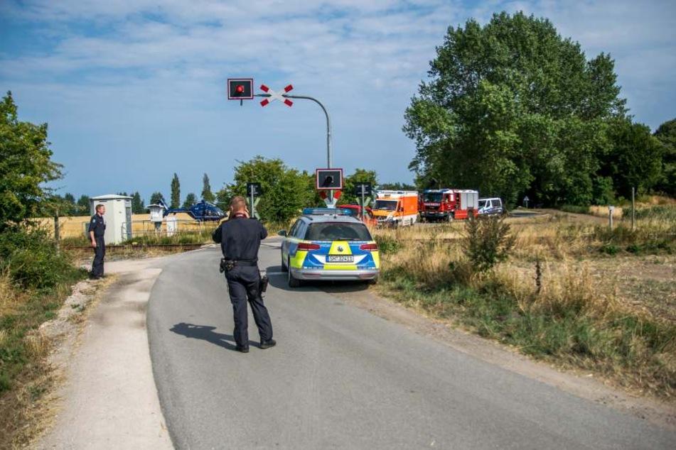 An diesem Bahnübergang wurde der Fahrradfahrer erfasst.