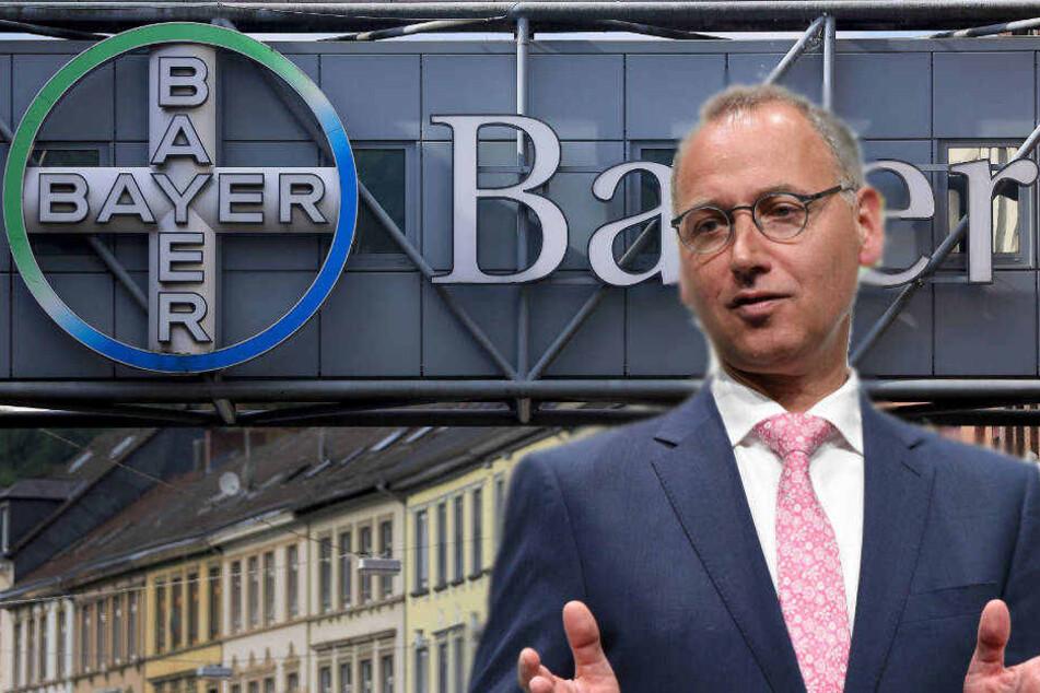 """Bayer-Chef Werner Baumann äußerte sich gegenüber der """"Frankfurter Allgemeinen Sonntagszeitung"""" zum geplanten Stellenabbau."""