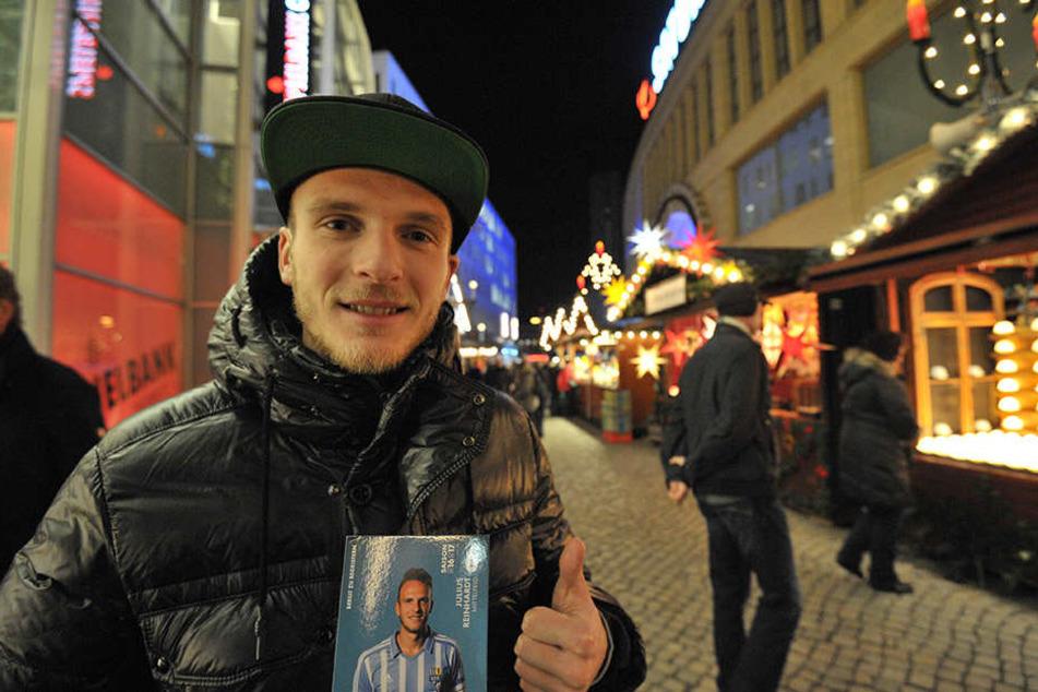 Zum ersten Mal seit 2010 verbrachte Julius Reinhardt die Adventszeit in seiner Heimatstadt. Da blieb auch Zeit für einen Bummel über den Chemnitzer Weihnachtsmarkt.